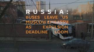 Expelled US Diplomats Leave Russia at Night
