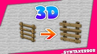 Making a 3D Ladder for Minecraft | _SyntaxError | (Download in Description)