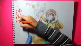 Speed Drawing - Tomoe & Nanami (Kamisama Hajimemashita)
