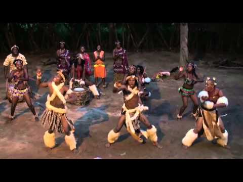 Traditional Zulu dances in the Kruger National Park (South Africa)