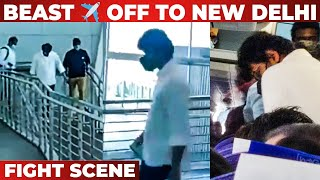 Video: Thalapathy Vijay Caught in Beast look | Airport | New Delhi | Nelson