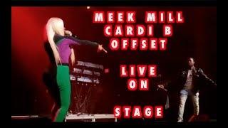 MEEK MILL CARDI B OFFSET PERFORM BODAK YELLOW LIVE TOGETHER 2017