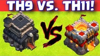 Heroic defense by Townhall 9 base against th11 || Clash Of Clans || Townhall 9 || Defence