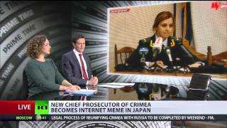 Super-cute Crimean prosecutor becomes Japanese meme