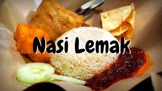 Malaysian Food - Eating Nasi Lemak in Kuala Lumpur, Malaysia