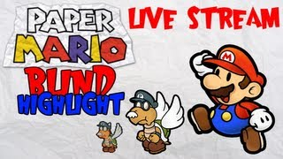 Paper Mario Blind Live Stream! - Highlight 3: Waluigi The Futuristic Koopa