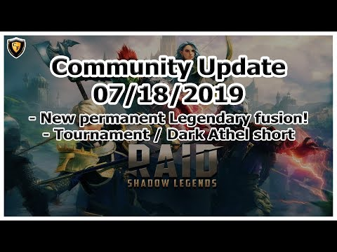 RAID Shadow Legends | Community Update | July 18, 2019 | Permanent Legendary Fusion?!