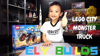 Ely Builds LEGO City Monster Truck 60180 Speed Build Stop Motion Timelapse