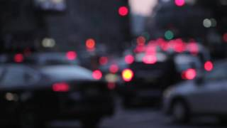 Traffic Night Lights Background Bokeh Blur City No Copyright Video