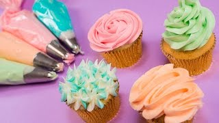 Cupcake Piping with a 2D Nozzle