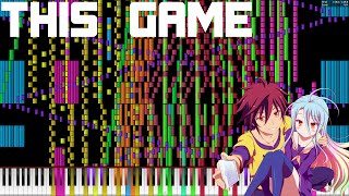 "【Black MIDI】 Konomi Suzuki  - ""This Game"" (Over 137,900 Notes) Black Score/Black Remix"