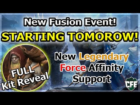 RAID Shadow Legends | NEW FUSION EVENT TOMORROW! | FULL KIT REVEAL LEGENDARY SUPPORT!