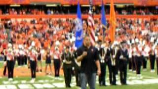 Jake Flaherty National Anthem at Carrier Dome