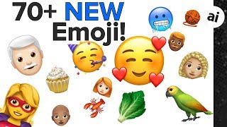 70+ New Emoji coming to iOS/watchOS/macOS!