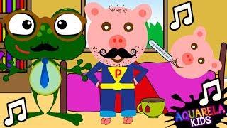 Pai Porco e Pai Sapão - MÚSICA DIA DOS PAIS (CANÇÃO INFANTIL AQUARELA KIDS)