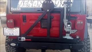 """Fabricación de defensa y porta llanta reforzado para llanta 37 """" ,"""