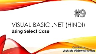 using Select Case in VB.NET (Hindi) width=