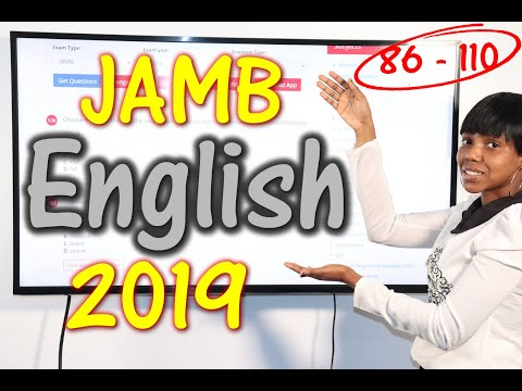 JAMB CBT English 2019 Past Questions 86 - 110