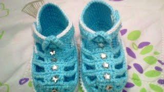 Sandalinha de croche para bebe