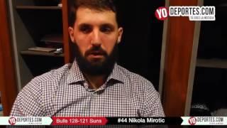 Nikola Mirotic 20 puntos en tiempo extra contra los Suns de Phoenix