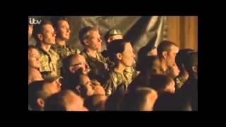 Gary barlow sings Home for troops in Afghanistan