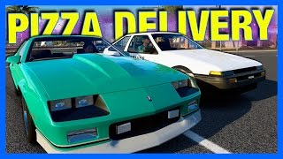 Forza Horizon 3 Online : Pizza Delivery Challenge!!