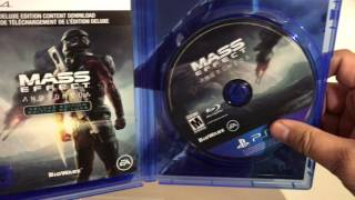 UNBOXING MASS EFFECT ANDROMEDA BEFORE RELEASE GIVEAWAY