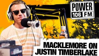 Does Macklemore Want to Beat Justin Timberlake at The VMA's?