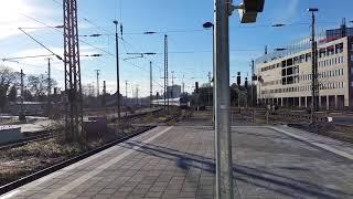 Einfahrt am Hbf Mönchengladbach, der RE 1058 fußballsonderzug nach LEV Mitte