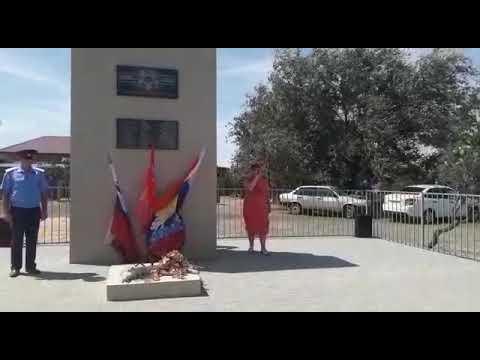 Открытие памятника «Погибшим воинам» в х. Цветной
