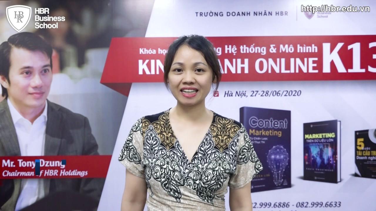 Cảm Nhận Học Viên Trường Doanh Nhân HBR - Chị Nguyễn Thị Nha Trang Giám Đốc Trung Tâm AN