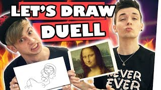 Boyfriend vs. Boyfriend: Epic Let's Draw Battle 🖌 | Kostas Kind