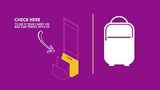 How to arrange your WOW air carry-on baggage