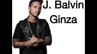 Ginza- J. Balvin letra