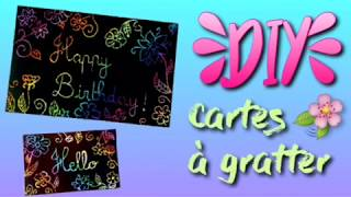 DIY simple et rapide - carte à gratter multicolore
