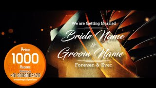 A Classy touch Wedding Invitation Video | save the date video | VR visual magics | Project 5