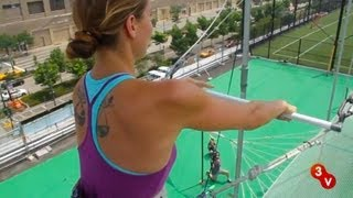 Lauren Takes a Swing at Trapeze