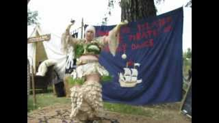 TAMMY ISLAND WARRIOR PERFORM POLS TRIBAL FUSION BELLY DANCE SEAFARERS PIRATE 2012