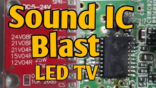 Download thumbnail for Led TV sound ic ( Audio Ic) blast problem