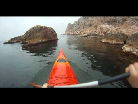 Каякинг в Крыму. Kayaking in november