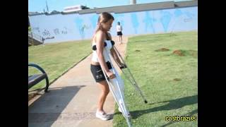 Arian - Long Leg Cast - She broken leg in skateboard accident