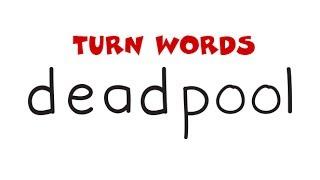 Deadpool Drawing | How To Turn Words DEADPOOL into A Cartoon Deadpool for kids – Wordtoons #59