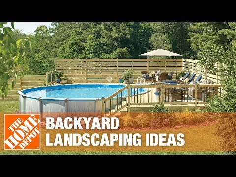 A video about backyard landscape ideas.