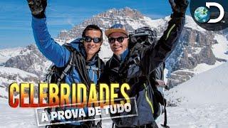 Jesse Tyler Ferguson chega no topo dos alpes italianos - Celebridades à Prova de Tudo