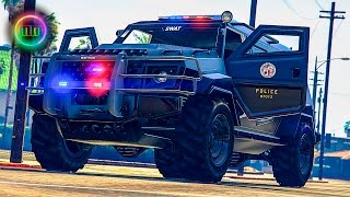 GTA 5 - LSPDFR SWAT Patrol - Garbage Truck Pursuit!