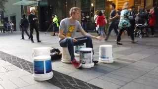 Gordo Bucket Drumming - Left Hand Rhythms