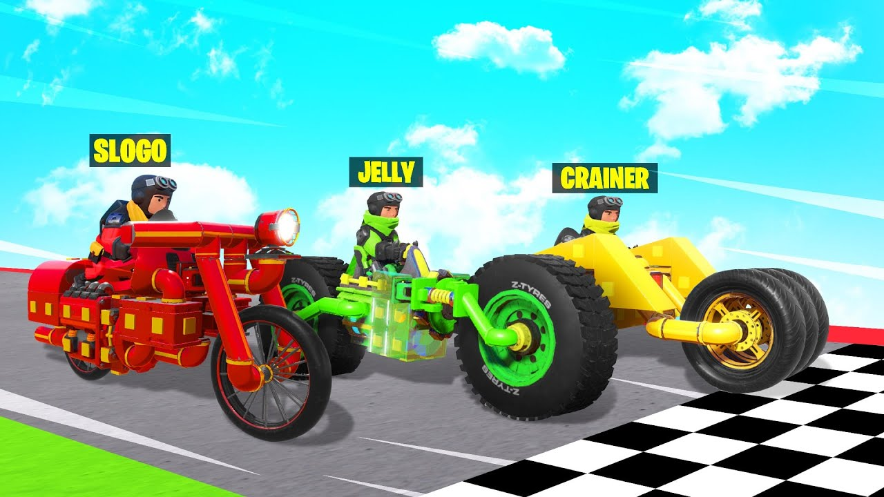 Jelly - We BUILT & RACED BIKES In TRAILMAKERS! (Best One Wins)