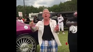 """Talented & Swagged Out Old Man Performs Plies New Hit """"Real Hitta"""" ft. Kodak Black"""