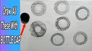 How to Draw Circle Designs With BOTTLE CAP ! | Life Hacks
