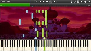 Aladdin - Arabian Nights - Synthesia Piano Solo Tutorial